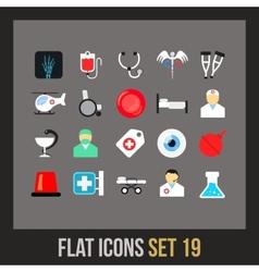 Flat icons set 19 vector image