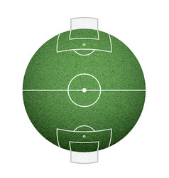 Icon round soccer field on the sphere lawn texture vector