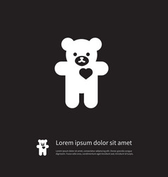 Isolated cuddly icon bear element can be vector
