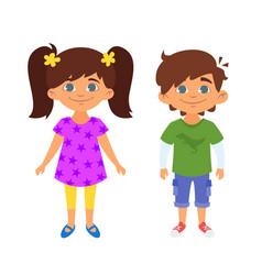Kindergarten kids characters vector