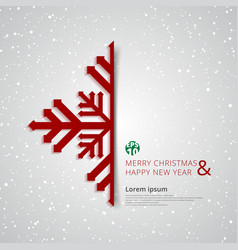 merry christmas and happy new year snowflake with vector image