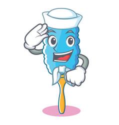 Sailor feather duster character cartoon vector