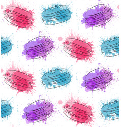 Seamless texture with contour drawing of macaroon vector