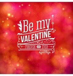 Sentimental Valentines Day card design vector image