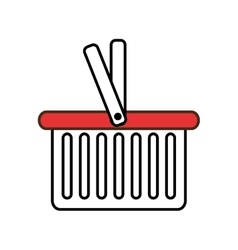 Shopping basket isolated icon vector