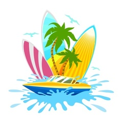 Travel tropical active rest vector image vector image