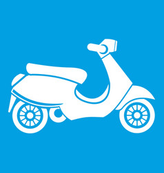 vespa scooter icon white vector image