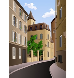 Vintage street in sunny day vector image vector image
