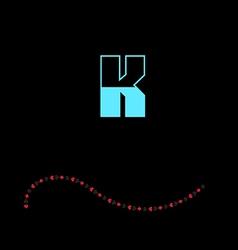 letter K-01 vector image