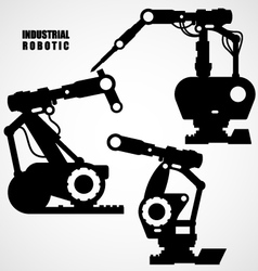 Industrial robotics - conveyor machinery tools vector