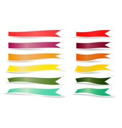 Decorative color ribbons vector