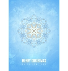Merry christmas happy new year fancy blue winter vector
