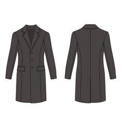 Mans coat outlined template vector
