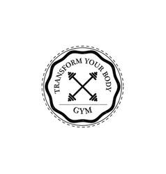 training gym fitness logo vintage style vector image