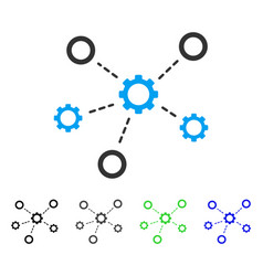 Gears relations flat icon vector