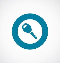 car key icon bold blue circle border vector image