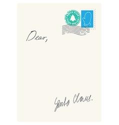 Letter from santa vector