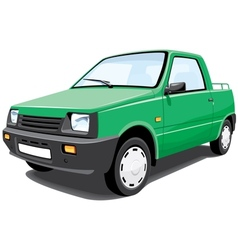 Green pickup vector