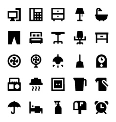 Home appliances icons 3 vector