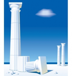 antic columns vector image