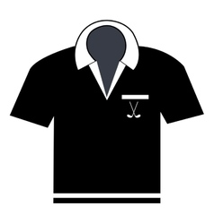 Black polo shirt graphic vector