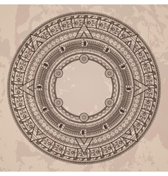 Circular pattern in the style of the aztec vector