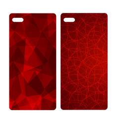 abstract blur bright red background for mobile vector image vector image