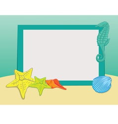 Beach frame vector
