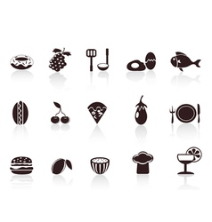 black food icons vector image vector image