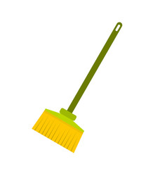 Broom icon flat style vector
