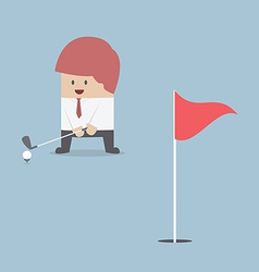 Businessman playing Golf vector image vector image