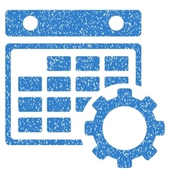 Calendar configuration gear grainy texture icon vector