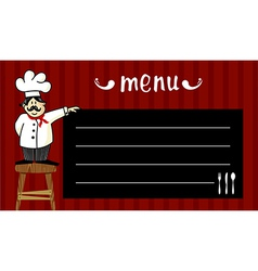 Chef and daily menu vector image
