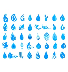 collection of water icon vector image vector image