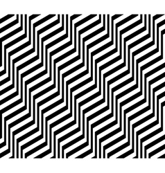 Design seamless monochrome zigzag pattern vector image