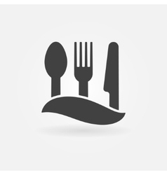 Food or cafe icon vector image