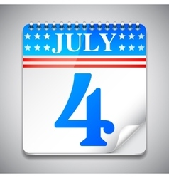 Fourth July Calendar vector image
