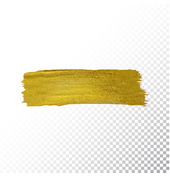 Gold paint smear stroke stain vector