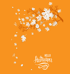 hello autumn yellow image vector image vector image