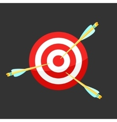 Icon target and arrows vector