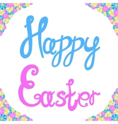 Inscription of happy easter vector
