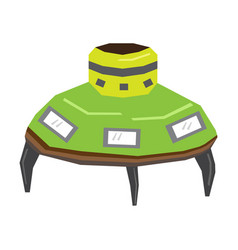 isolated geometric ufo toy vector image