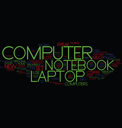 Laptop notebook computer text background word vector