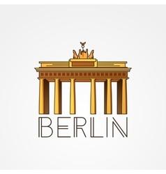 Linear icon of german brandenburg gate in vector