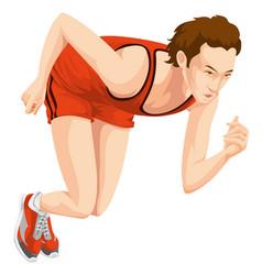 man sprinting color vector image vector image