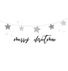 merry christmas modern clean background vector image vector image