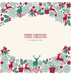 Merry Christmas text vintage elements file vector image vector image