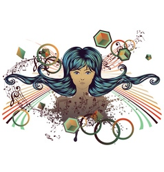 Music Girl2 vector image vector image