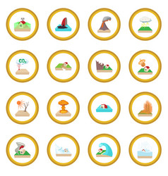 Natural disaster icon circle vector