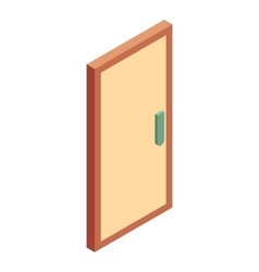 Office wooden door icon cartoon style vector